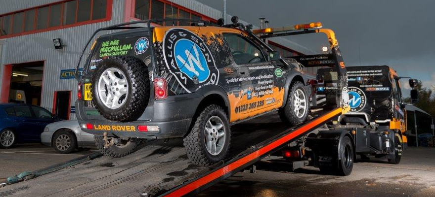 Wallis Revovery Vehicle Wrap